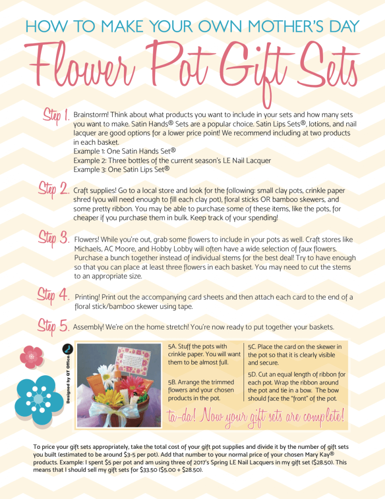 Mary Kay® Mother\'s Day Flower Pot Gift Ideas - QT Office® Blog ...