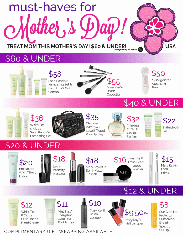 Mary Kay® Mothers Day 2017 Freebie Flyer Designed By QT Office